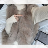 famous 2019 winter new product expensive and rich lady gentle lady fox fur vest jacket
