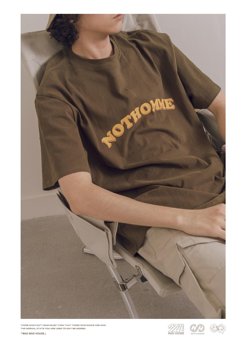 潮牌印花情侣款宽鬆情侣短袖男装夏季学院风恤详细照片