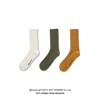 NOTHOMME tide brand styling tube simple letters sock hip hop street dance plus thick knit woolen stockings ginger yellow