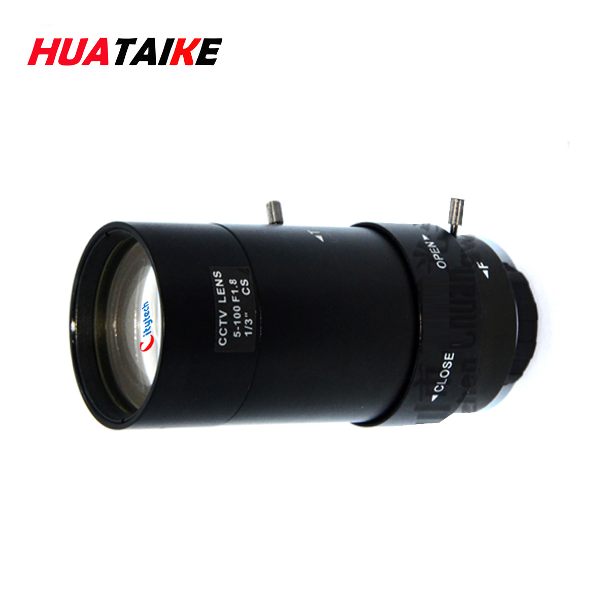 High-definition 5-100mm surveillance camera manual aperture telephoto  distortion-free vision industrial lens remote zoom
