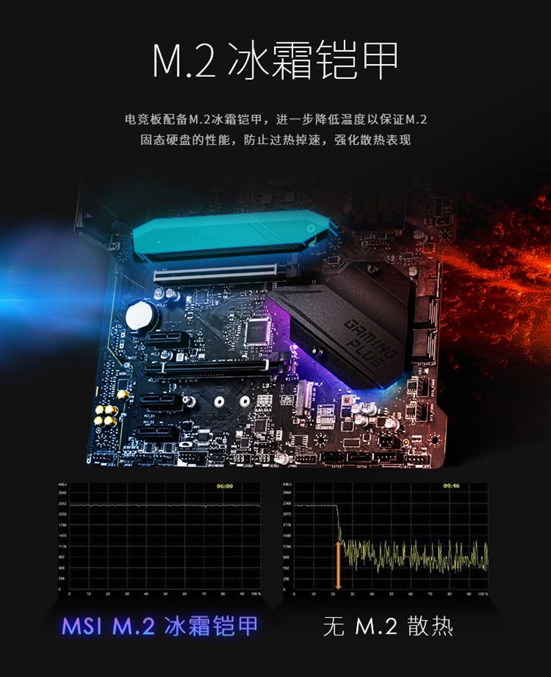 微星 Z490 GAMING PLUS ATX Motherboard 主板 Z490 LGA1200 英特尔主板 Intel主板