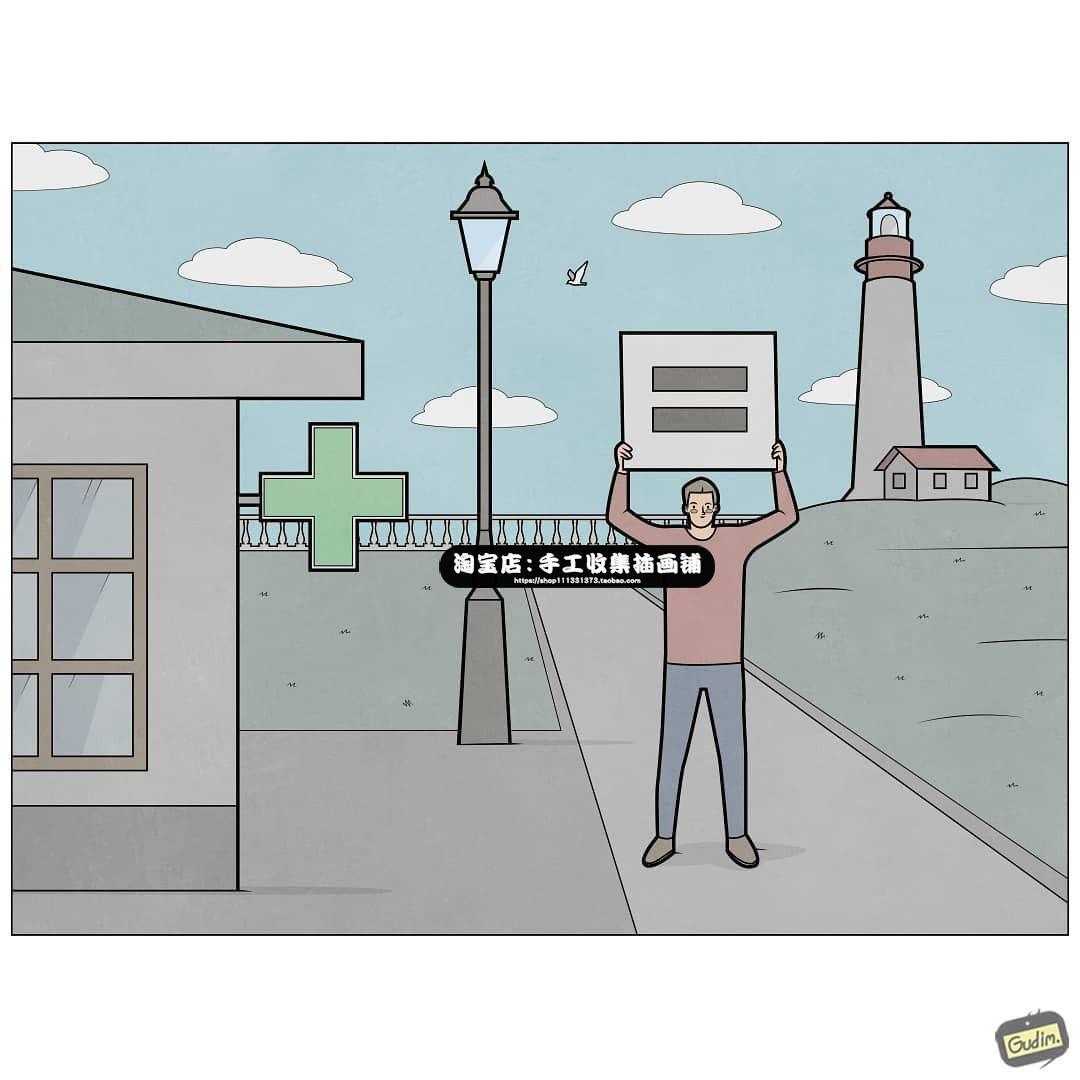 漫画师Gudim插画漫画参考构图人物幽默漫画临摹素材绘画