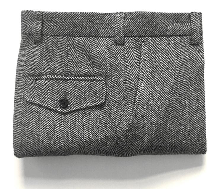 羊毛复古人字纹大码西裤粗纺呢九分裤nickwooster欧美小直筒秋冬