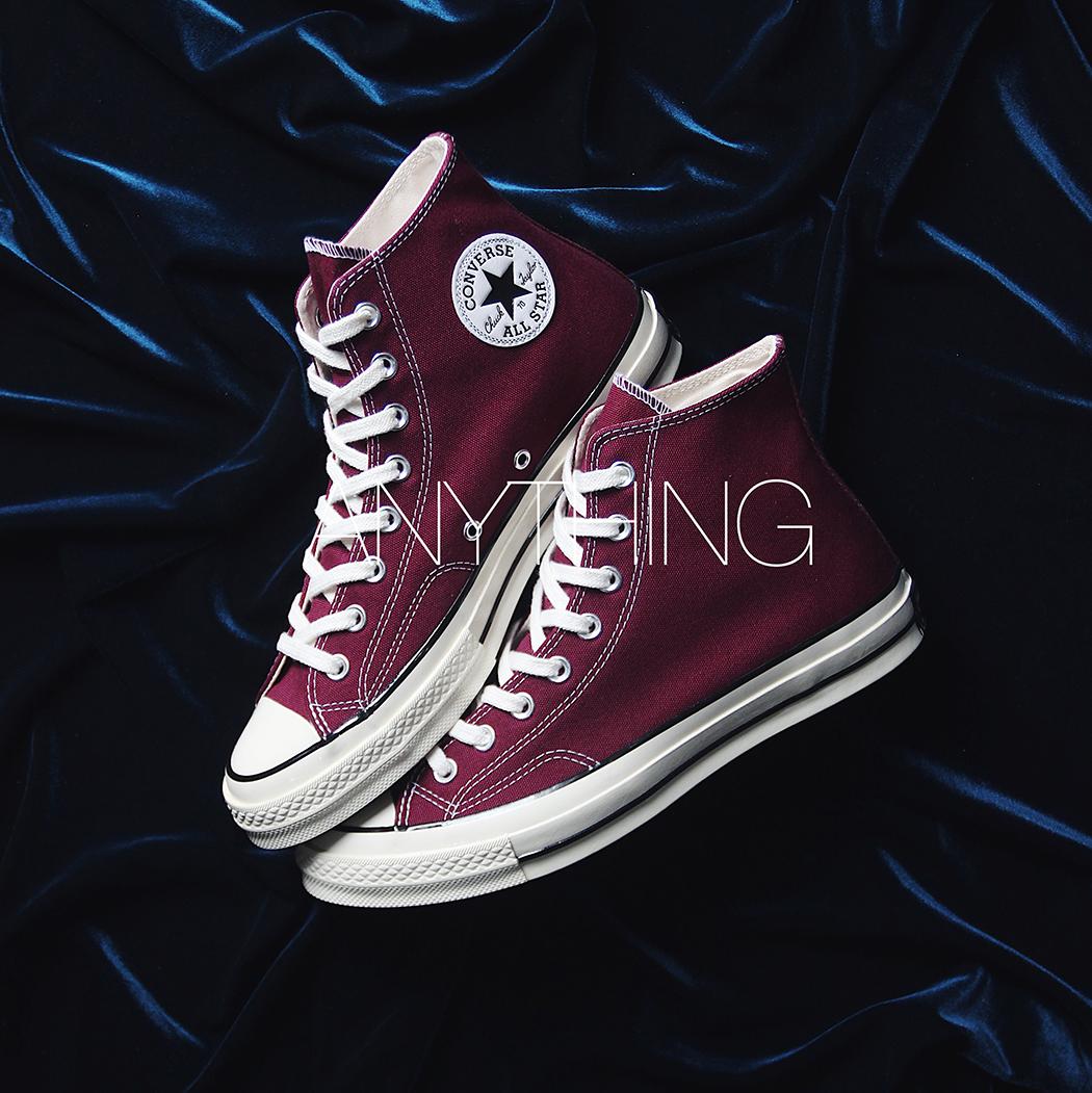 Converse Converse 1970s rượu vang đỏ cao cấp Samsung tiêu chuẩn giày vải nam giày nữ 162051C - Plimsolls