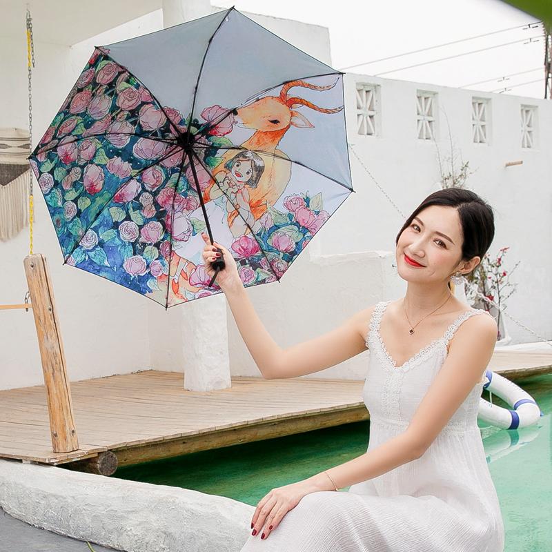强抗风折叠晴雨伞