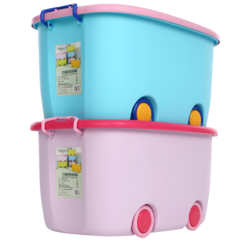 Extra Large Toy Storage Box Children Cartoon Storage Box Plastic Clothes Storage  Box Clothing Clearance Savings Box