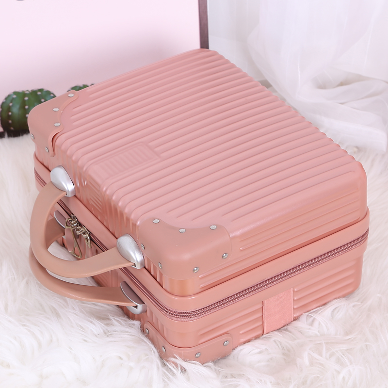 Suitcase small suitcase woman cute makeup box 14 inch small light Korean version of the suitcase mini collection bag