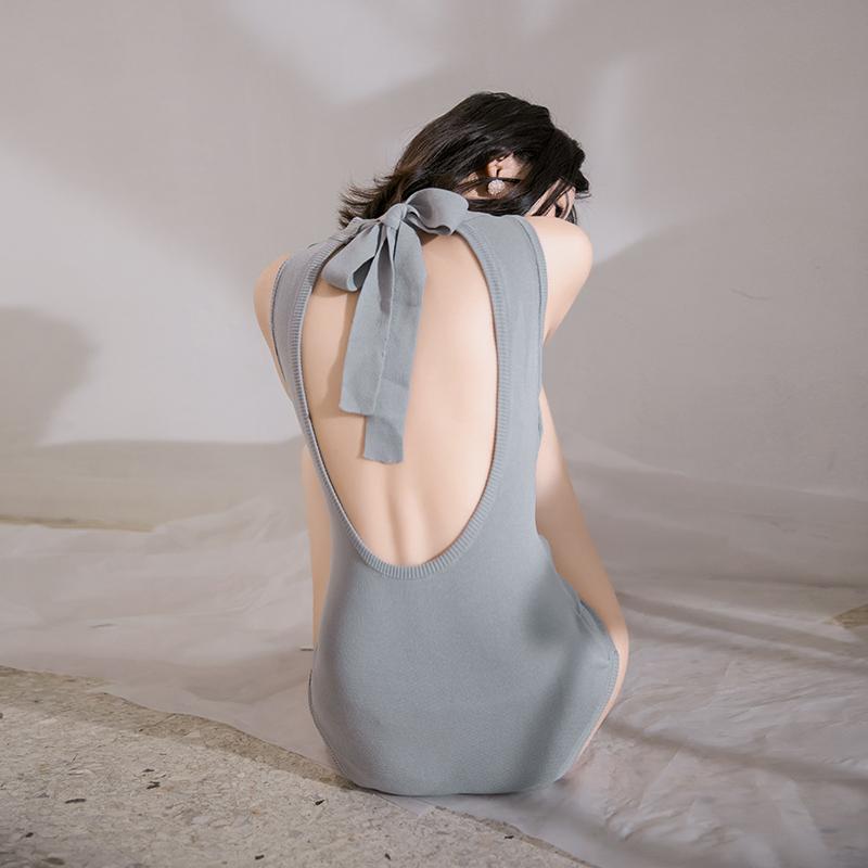 Mulang mới màu xám xanh đan áo tắm tam giác gợi cảm Xiêm thanh lịch backless nữ thần bảo thủ đồ bơi phụ nữ