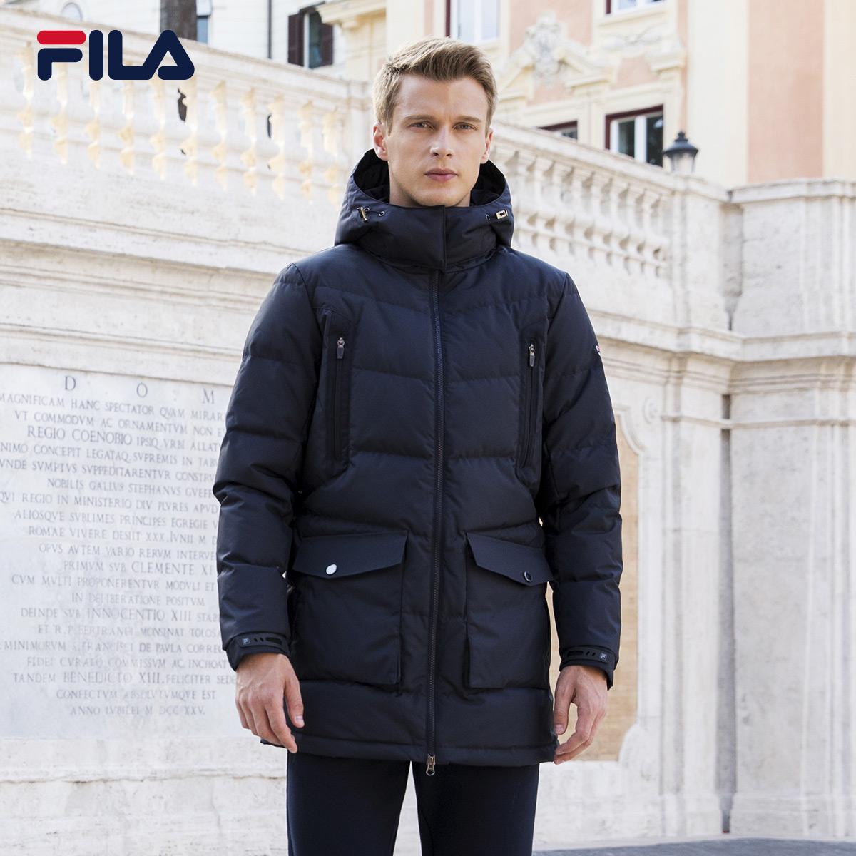 94f8672eff42 FILA Feile men s down jacket 2017 Winter new sports hooded windproof warm  jacket sportswear