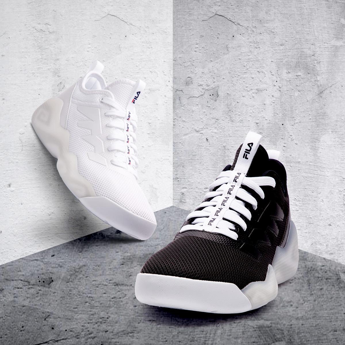 FILA фиджи музыка мужская обувь 2018 новая весна классический вариант баскетбол обувной уютный пригодный для носки тенденция спортивной обуви обувь casual мужчина