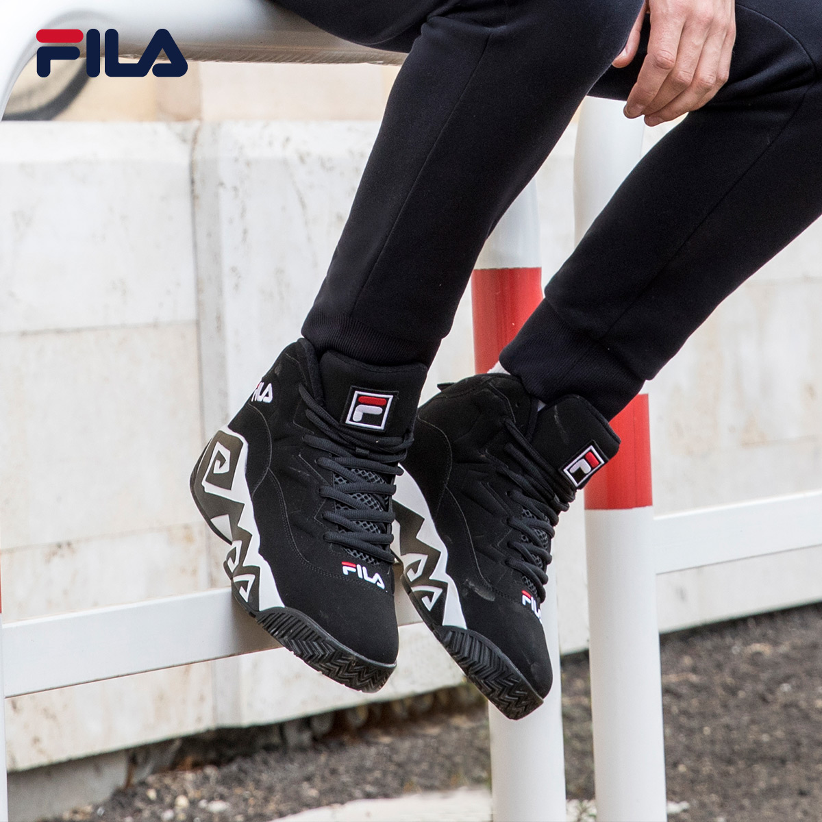 880bf2ad2d25 FILA Fila BB shoes men s shoes Winter new Star models tide shoes casual  shoes basketball shoes men