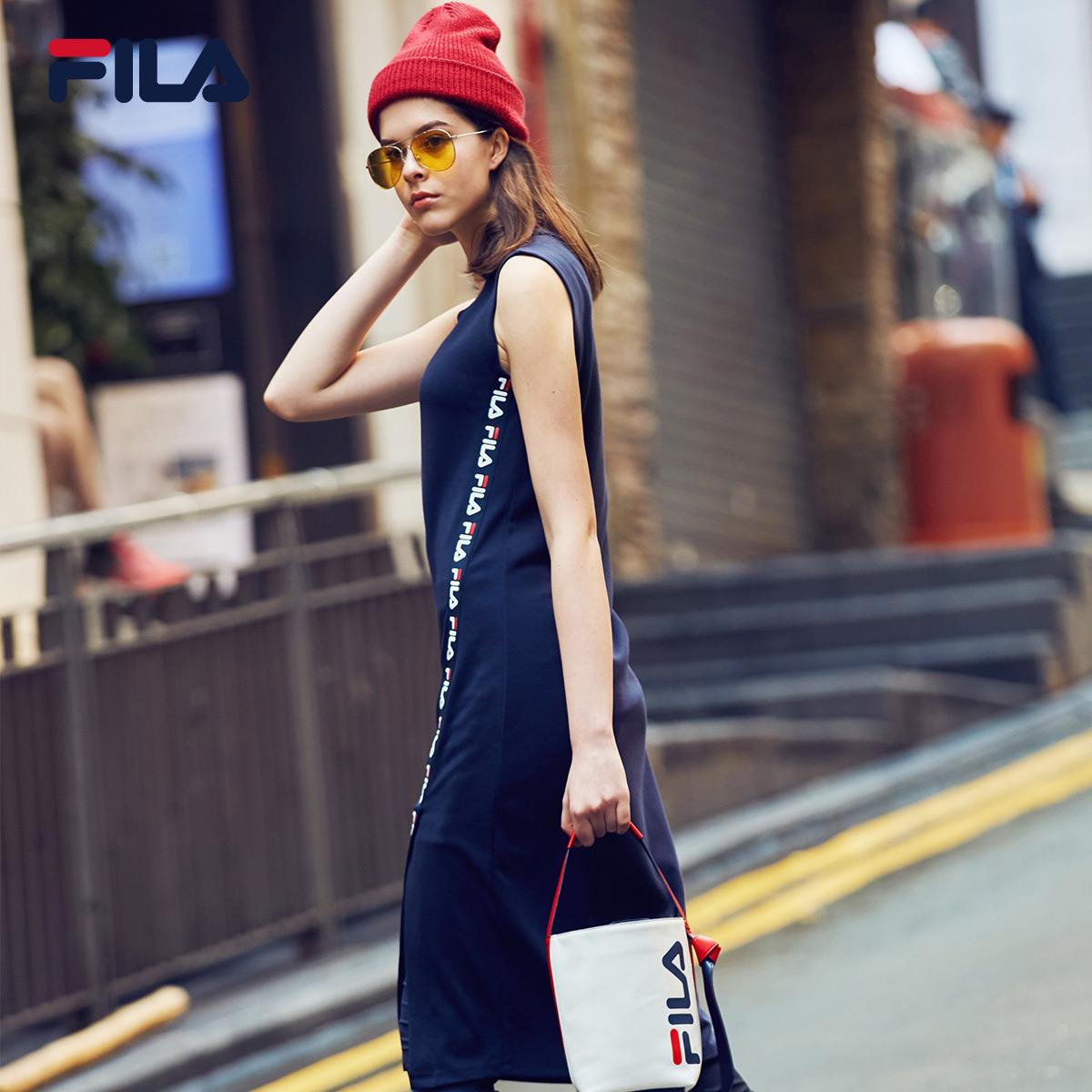 Женское спортивное платье FILA Fila 2018 Summer новая коллекция уютный популярный для отдыха фасон средней длины стиль юбка