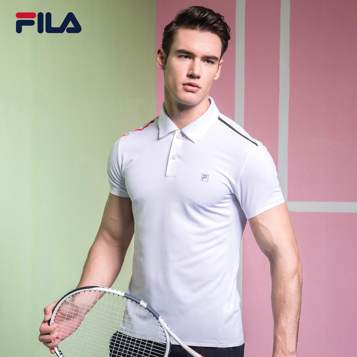 FILA Fila RED loạt nam T-Shirt 2018 mùa hè độ ẩm mới wicking thể thao POLO áo sơ mi nam