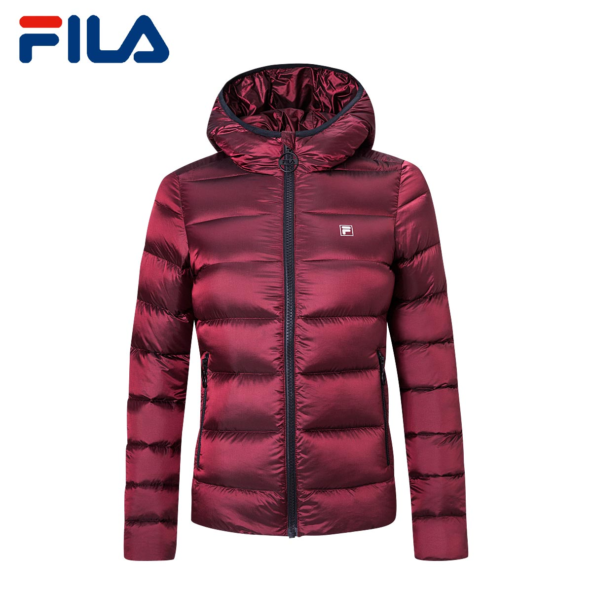 de6414e118f2 ... lightbox moreview · lightbox moreview. PrevNext. 1fila Fei Le female  down jacket 2018 Winter new hooded sports jacket female warm wind ...