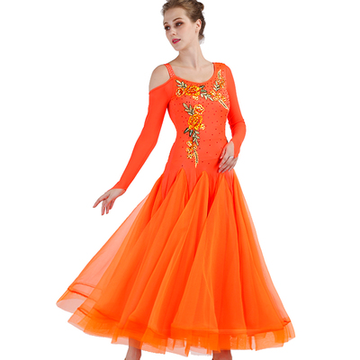 Ballroom Dance Dresses Fashion Skirt, National Standard Dance Dress, Waltz Show Competition Costume