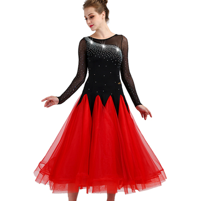 Ballroom Dance Dresses Modern Dance Competition Skirt, National Standard Dance Dress, Social Dance Performance Dress