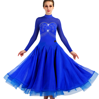 Elegant drill-in collar! Ballroom dancing Waltz dress sexy modern dance costume new product