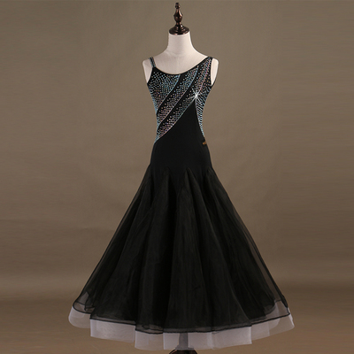 New products! Contest dress for modern dance, shoulder sling, national standard dance dress, Waltz dress