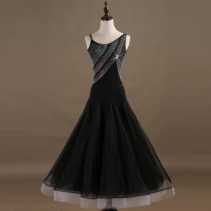 Ballroom Dance Dresses Contest dress for modern dance, shoulder sling, national standard dance dress, Waltz dress