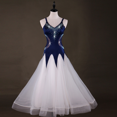 Ballroom Dance Dresses National Standard Dance Costume High-end Flash Drill Modern Dance Competition Dress Waist Thread Skirt