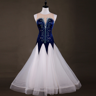 Cool Sleeveless Modern Dance Competition Dress National Standard Dance Dress Female Adult Waltz Friendship Dance Skirt