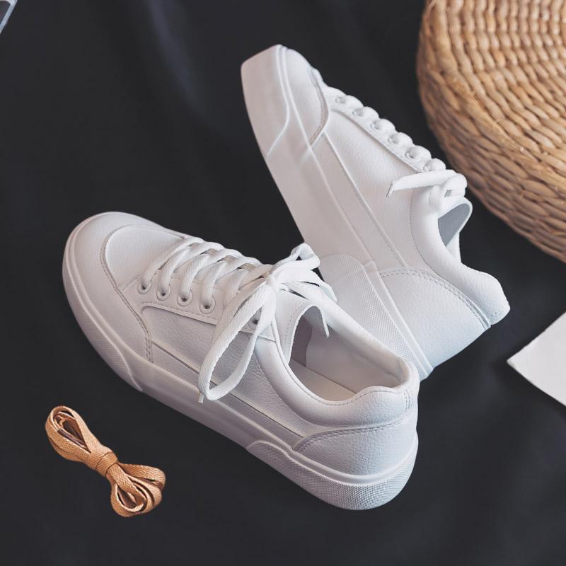 百搭基础小白鞋女春季2018新款女帆布鞋学生韩版chic板鞋平底白鞋