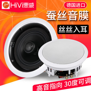 HIVI / WIWW VX6-C ceiling speaker background music coaxial speaker conference ceiling sound audio set 5