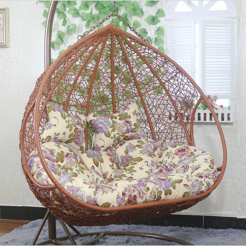 Hanging Basket Rattan Chair Double Hammock Indoor Home Living Room Hanging  Chair Balcony Nest Adult Cradle Rocking Chair Swing Outdoor