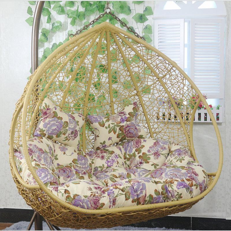 Hanging Basket Rattan Chair Double Hammock Indoor Home Living Room Hanging  Chair Balcony Nest Adult Cradle ...