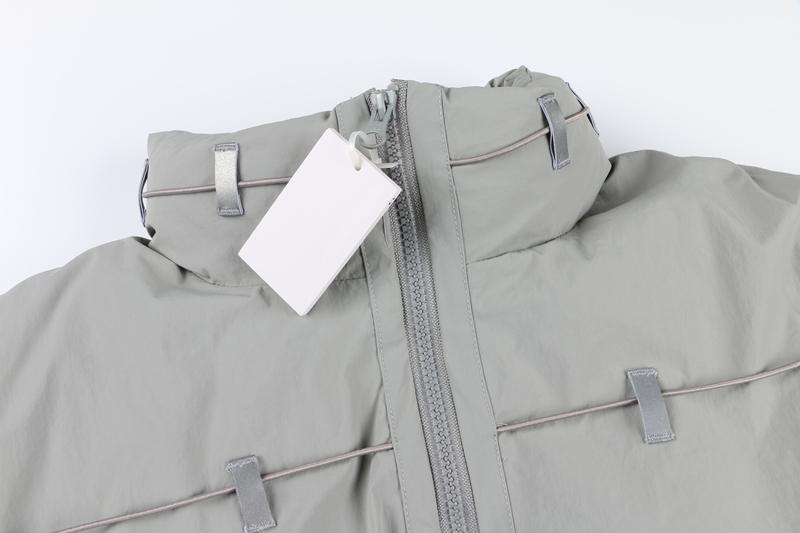 OMG潮店Post archive faction羽絨服夾克3M反光條捆繩高領蓬松面包外套潮