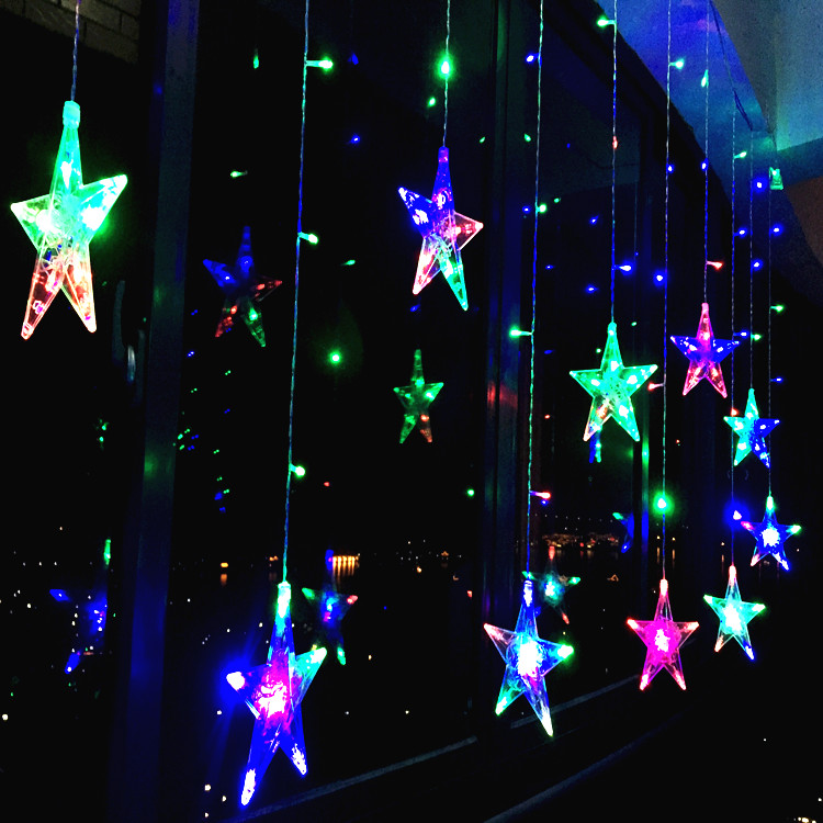 star lights led small lights flashing lights string lights wedding room decoration curtains neon romantic christmas