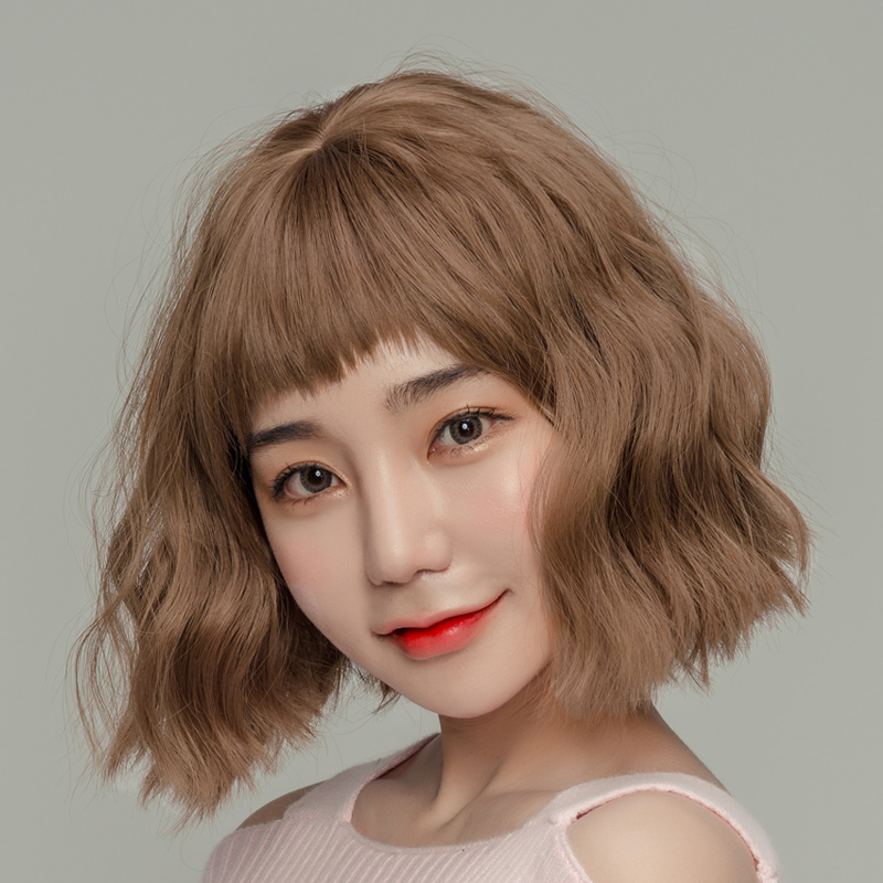Usd 3293 Wig Girl Short Hair Two Times Dog Chew Bangs Fluffy