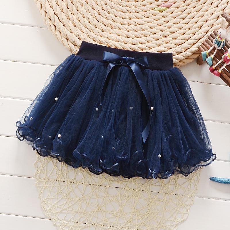 Темно-синий № 1 с жемчужинами юбка