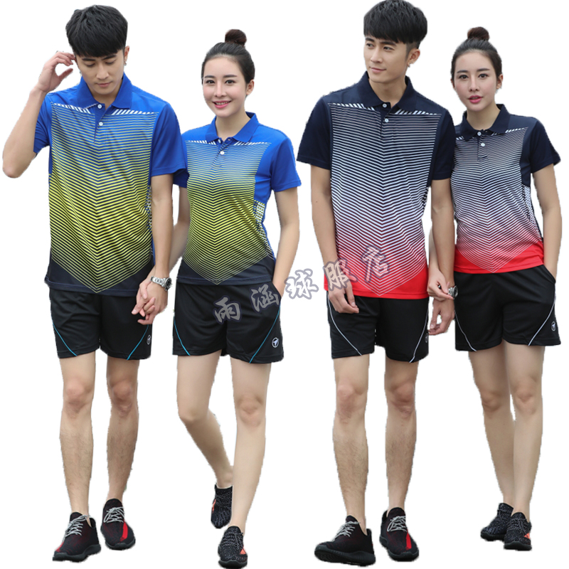 66a3e6efd New table tennis clothing short-sleeved suit men and women couple badminton  children's tennis competition team uniforms buy printing
