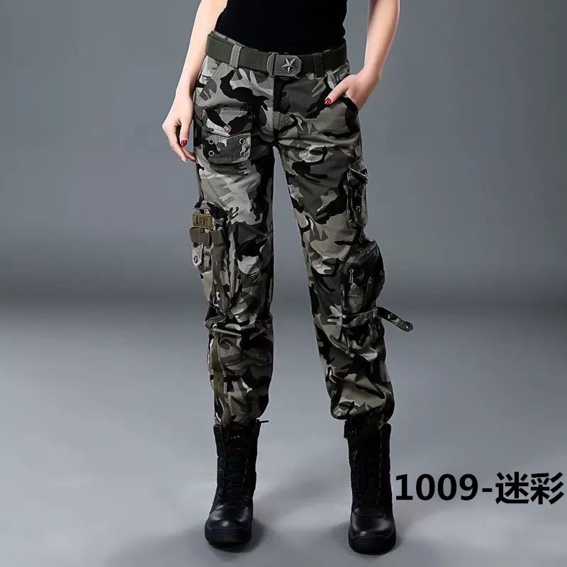 Mens Multi-Pocket Overalls Outdoor Camo Casual trousers Loose Cotton Pants New Y