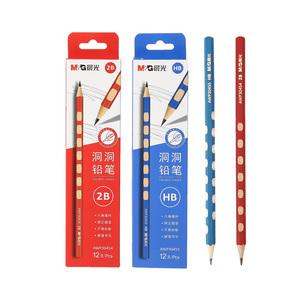 晨光洞洞铅笔矫正握姿铅笔儿童练字铅笔小学生练字笔 HB 12/30支 AWP30455