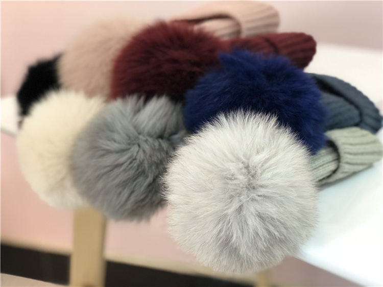 467efa51887 Autumn and winter baby wool ball hat warm Fox big fur ball wool cap baby  baby. Zoom · lightbox moreview · lightbox moreview ...