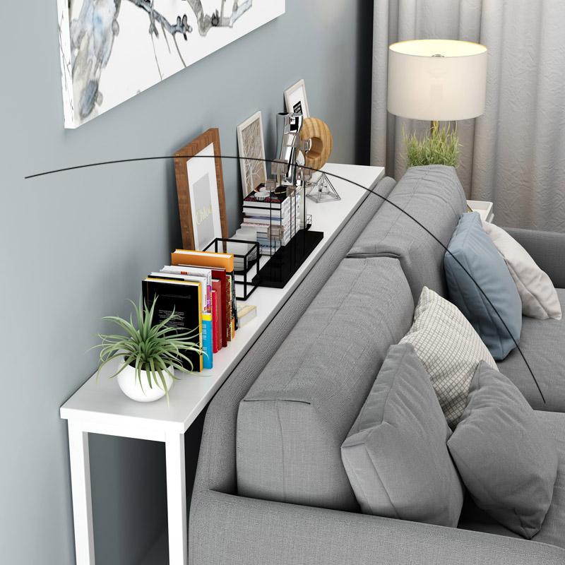可定制长条客厅后靠桌背几置物架靠墙长条木v长条床头沙发玄关架