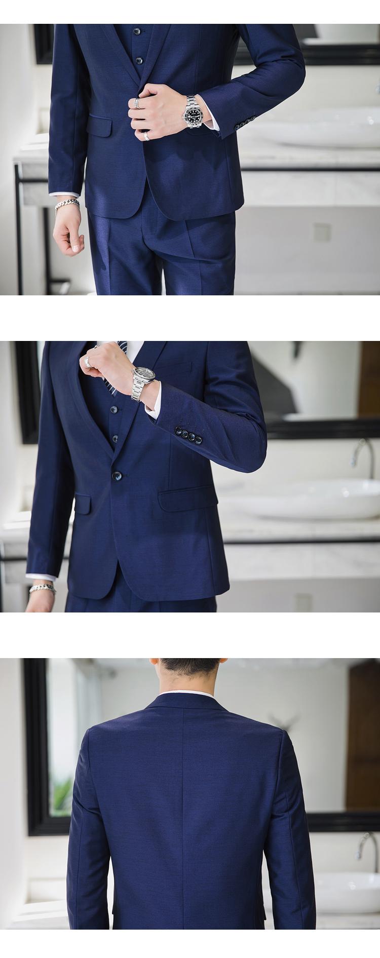 模特图-S-3XL爆款商务正装结婚礼服休闲西服套装三件套6655P270