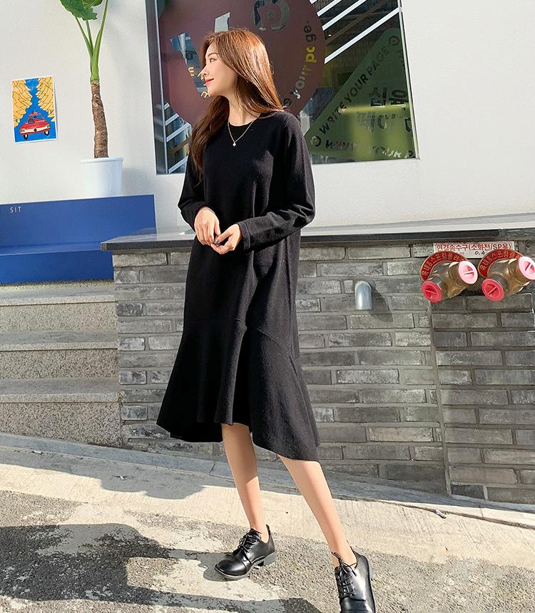 提升气质的小黑裙,鱼尾裙摆搭配更撩人