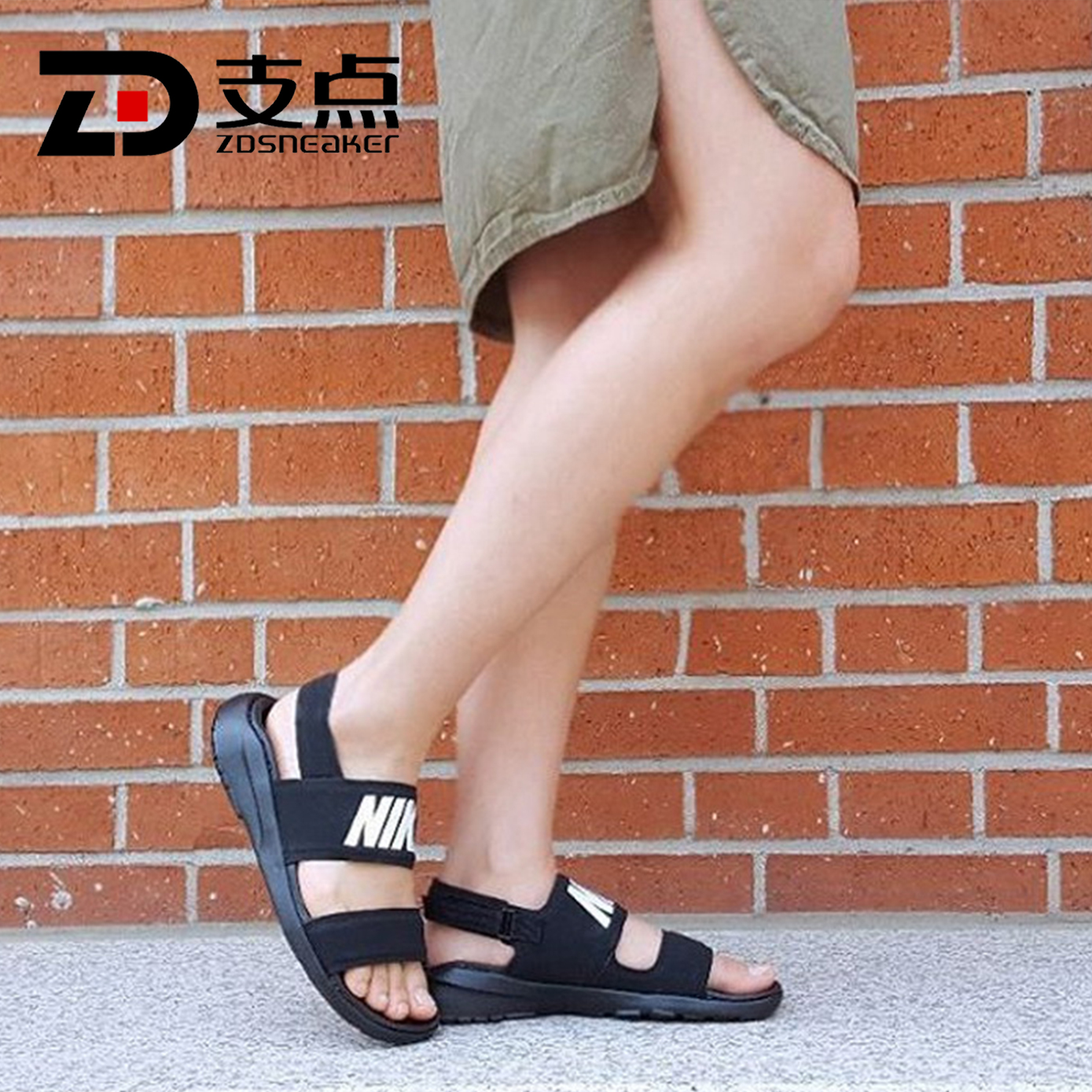 01c21c386062 ... NIKE TANJUN SANDAL Letter Ninja Couple Casual Beach Sandals  882694-001 002