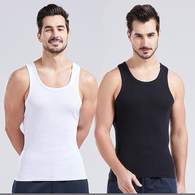 俞兆林男士2件背心运动健身紧身棉夏季打底内穿修身无袖T恤坎肩