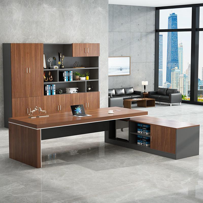 2办公家具老板桌简约现代主管大班台经理桌总裁桌组∑ 合单人办公桌