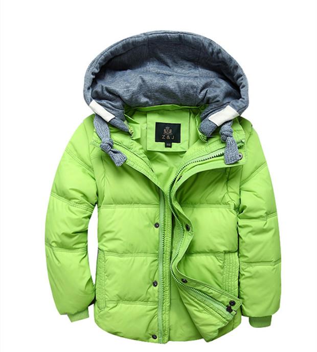 儿童羽绒服 男童短款羽绒马甲中大童冬季纯色厚羽绒服外套可拆袖
