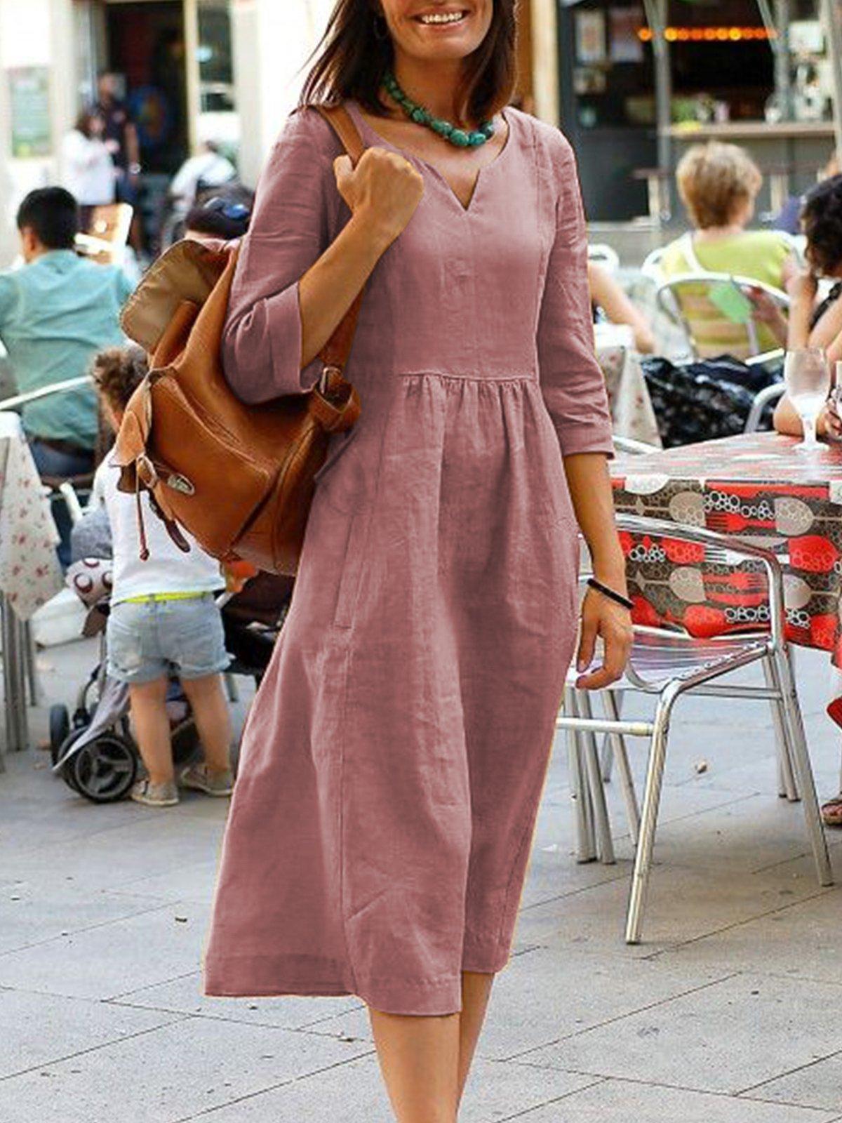 1323# eBay 速卖通秋冬新款 大码宽松连衣裙