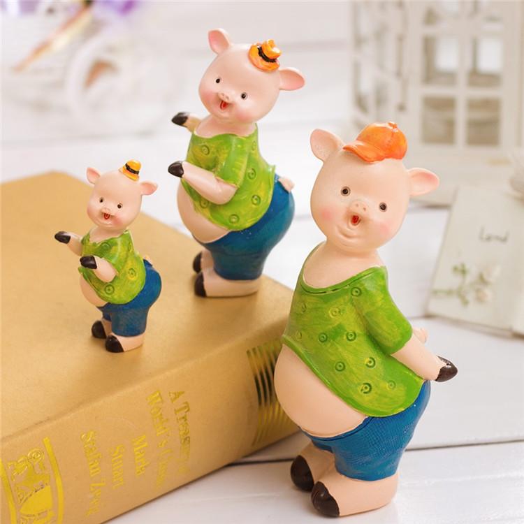 可爱的田园一家三口鸭树脂摆件 儿童房摆件家居饰品装饰摆件