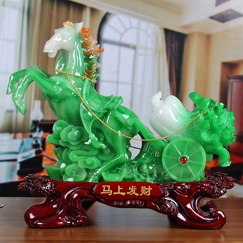 Immediately Rich Horse Ornaments Feng Shui Lucky Mara Cabbage Office Home  Decorations Shop Opening Gifts