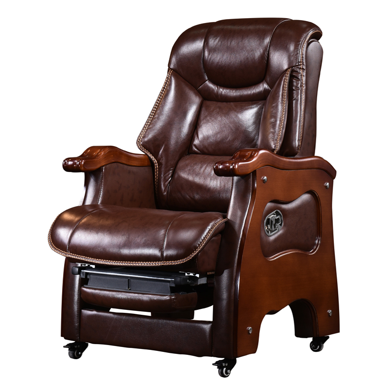 usd 547 68 leather boss chair reclining solid wood office chair