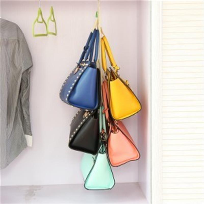 5 bags double sided handbags hanger holder purse organizer - Handbag hanger for closet ...