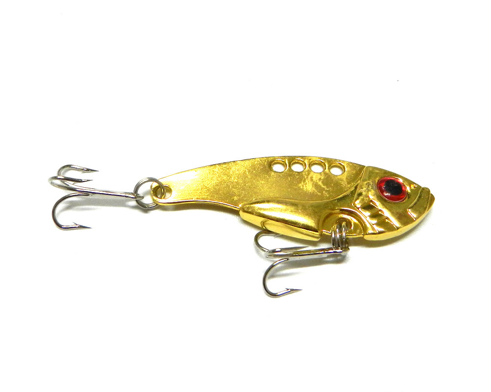 New Metal 3d Eye Fish Baits Fishing Lures Crankbait Tackle